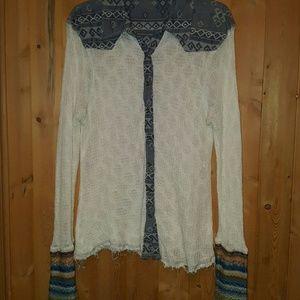 Gimmicks rough edge button up shirt size large